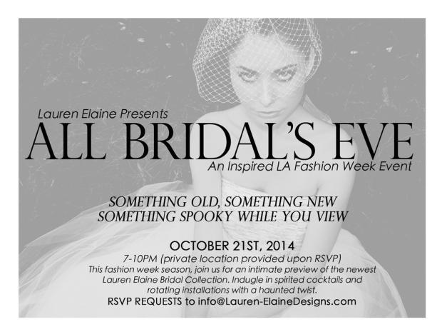 All Bridal's Eve Lauren Elaine SS2015 Runway