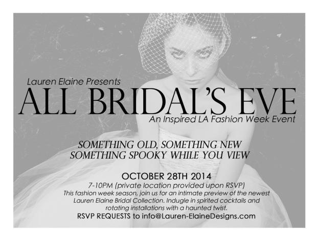 Lauren Elaine All Bridals Eve Event, LA Fashion Week
