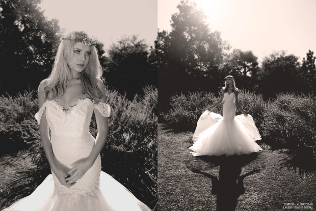 Aurelia Wedding dress. Mermaid silhouette. Made in the USA. Affordable, Designer Bridal.