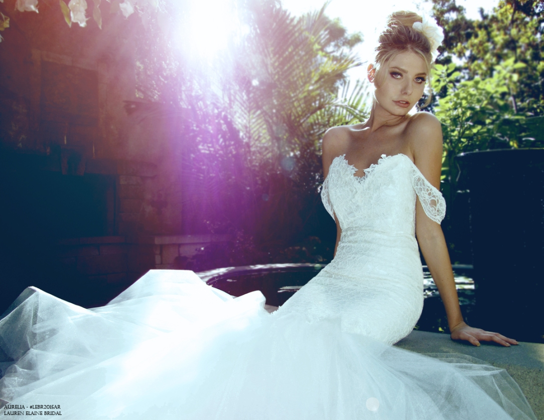Best mermaid wedding gowns for 2015. Dramatic backless mermaid gown.