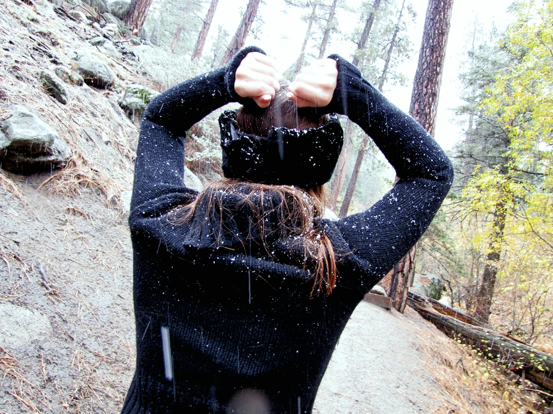 Lauren Elaine, Big Bear, Snow, November, Behind-the-seams