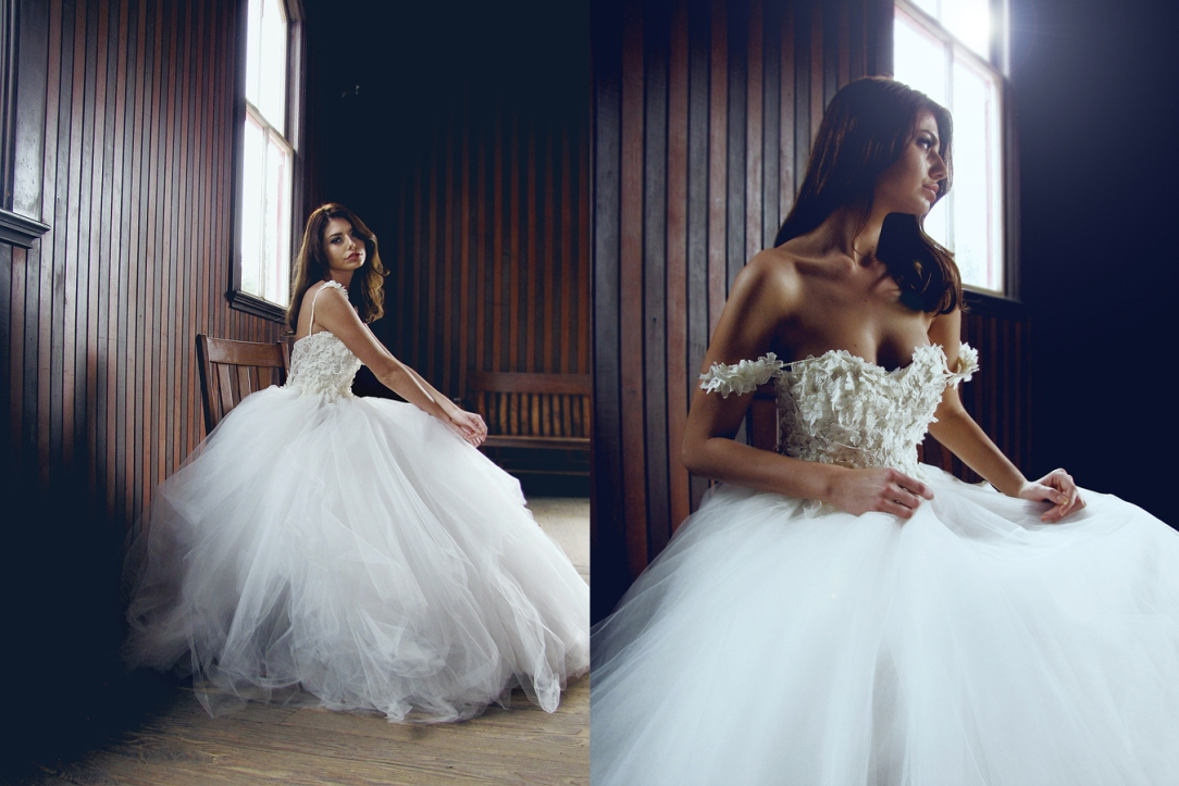 Lauren Elaine Bridal Monarch Gown, Made in the USA, Couture Bridal