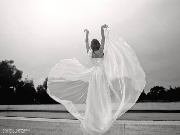 A-line chiffon bridal gown, ethereal wedding dresses