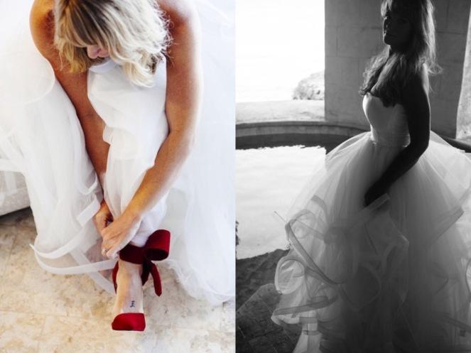 Valentino heels and Lauren Elaine Bridal, real weddings