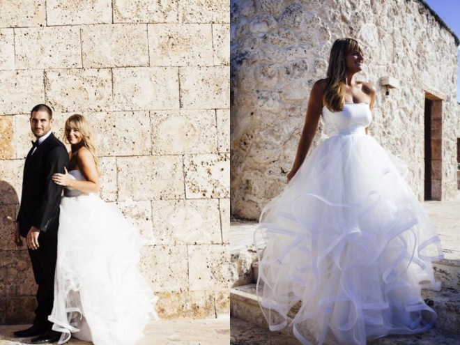 Lotus gown by Lauren Elaine Bridal on Bride Joy at the Sanctuary Cap Cana