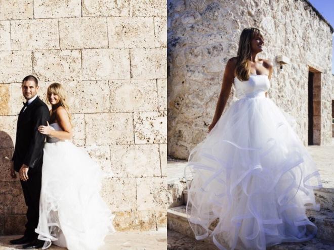 Lotus gown by Lauren Elaine Bridal on Bride Joy at the Sanctuary Cap Cana