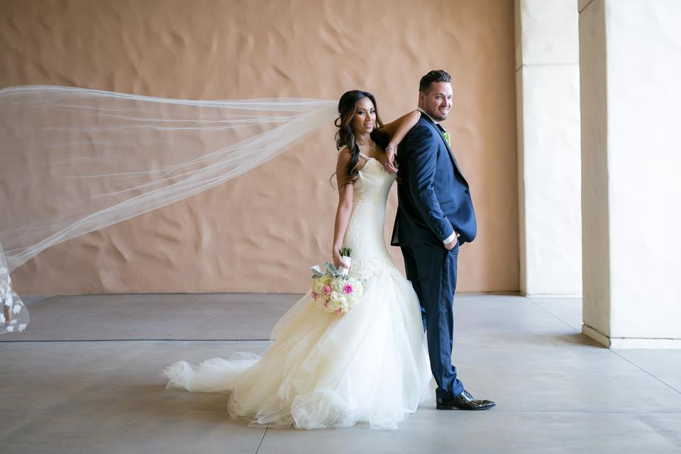 Lauren Elaine Aurelia Gown - Bride Sunshine and Groom