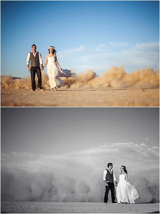 Dry lake bed wedding, las vegas