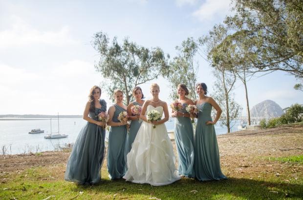 Bridal party at the Morro Bay Inn