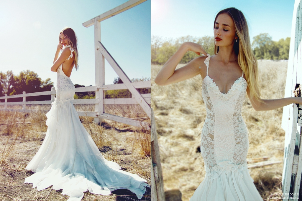 Aislin Gown by Lauren Elaine Bridal photographed in Los Olivos, California