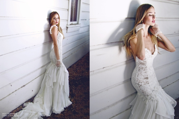Aislin Gown by Lauren Elaine Bridal with train