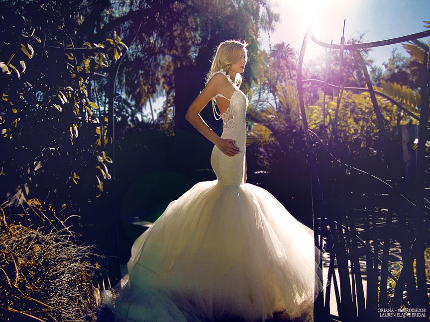 Fairytale princess mermaid wedding gowns by Lauren Elaine Bridal.