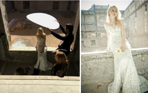Lauren Elaine Bridal behind the scenes for Weddings Magazine