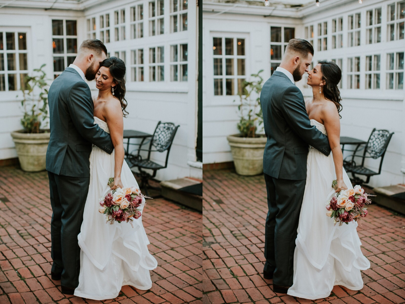 Taylor and Bruce photographed by Lauren Louise Photography at Three Rivers Inn