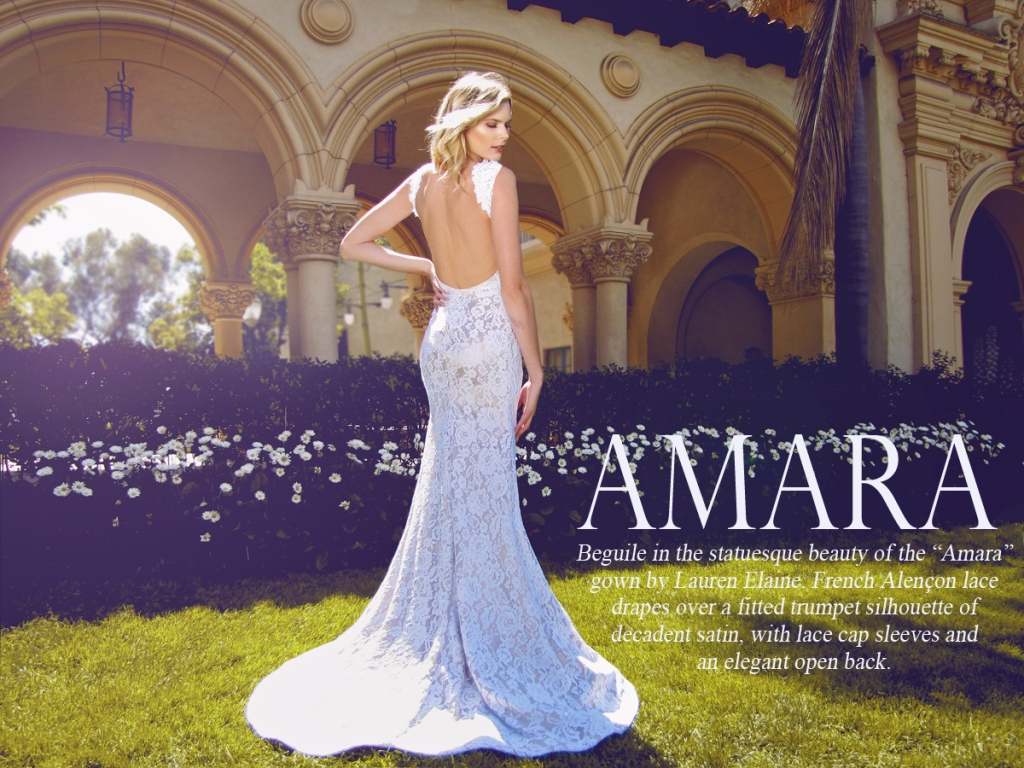 Amara by Lauren Elaine Bridal Wedding Gown