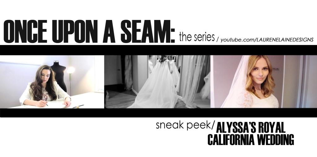 Alyssa Campanella's custom Lauren Elaine Bridal gowns