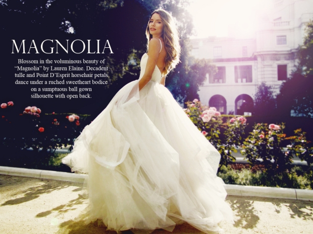 Magnolia by Lauren Elaine Bridal. Princess wedding gown.