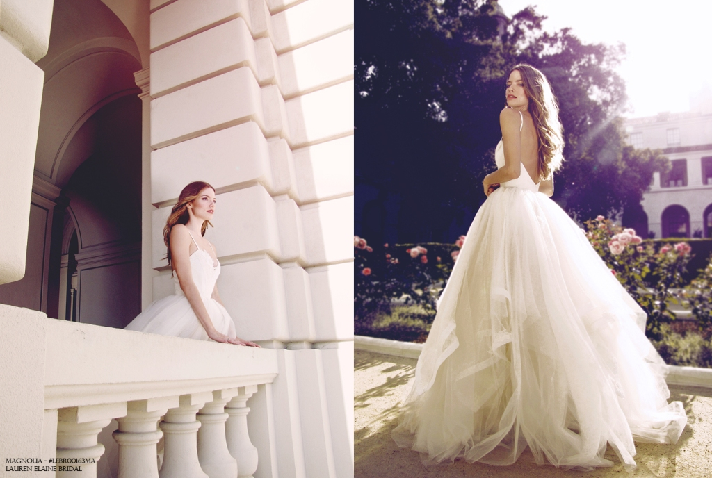 Princess tulle and horsehair ball gown by Lauren Elaine Bridal