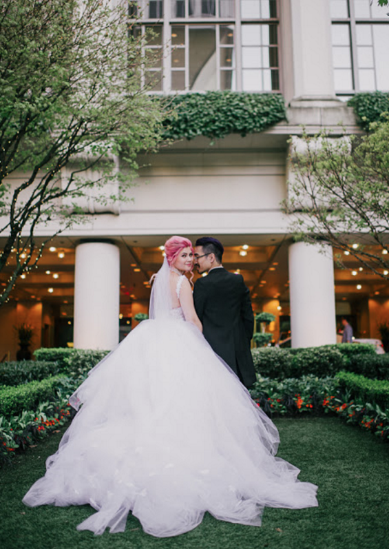 Fairytale tulle princess wedding gowns and wedding dresses by Lauren Elaine.