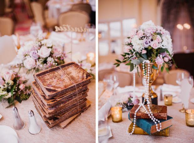 Vintage french-inspired wedding decor