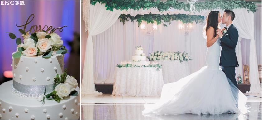 Lauren Elaine Jasmine mermaid wedding gown on the dancefloor