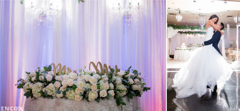 Encor Studio capture of Michele and Michael's Wedding at Mon Amour Banquet Hall