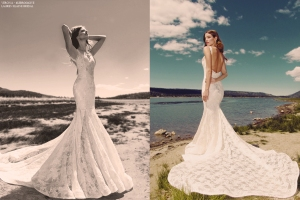"Backless mermaid ""Verona"" gown by Lauren Elaine Bridal"