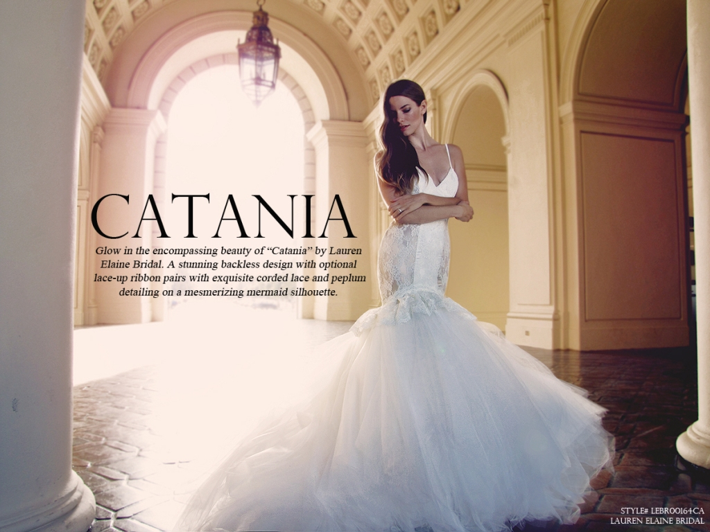 Catania wedding gown by Lauren Elaine Bridal with huge ball gown tulle skirt