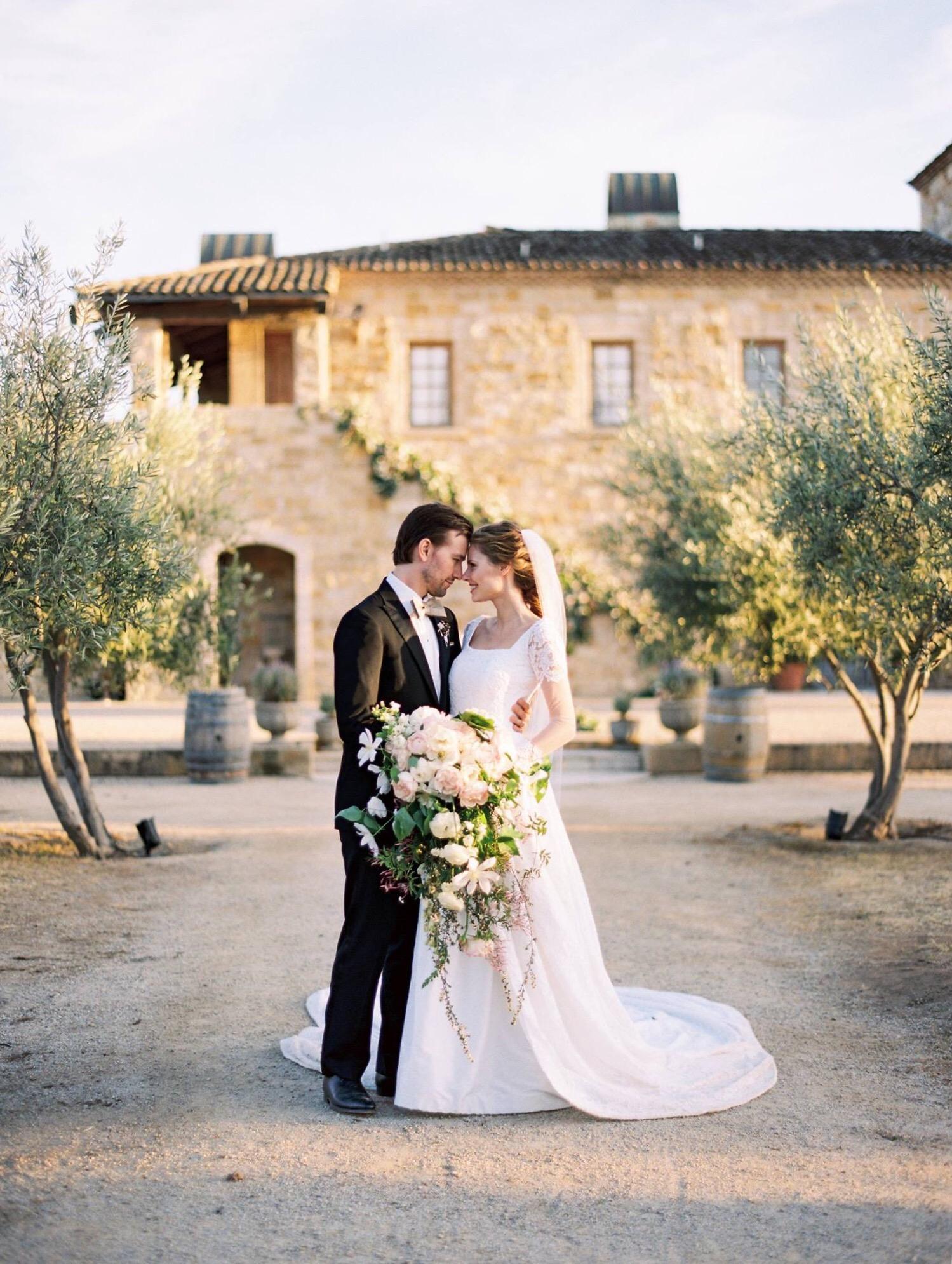 Wedding Gown Designed By Lauren Elaine Alyssa Campanella Weds Torrance Coombs At Sunstone Villa In Bridal