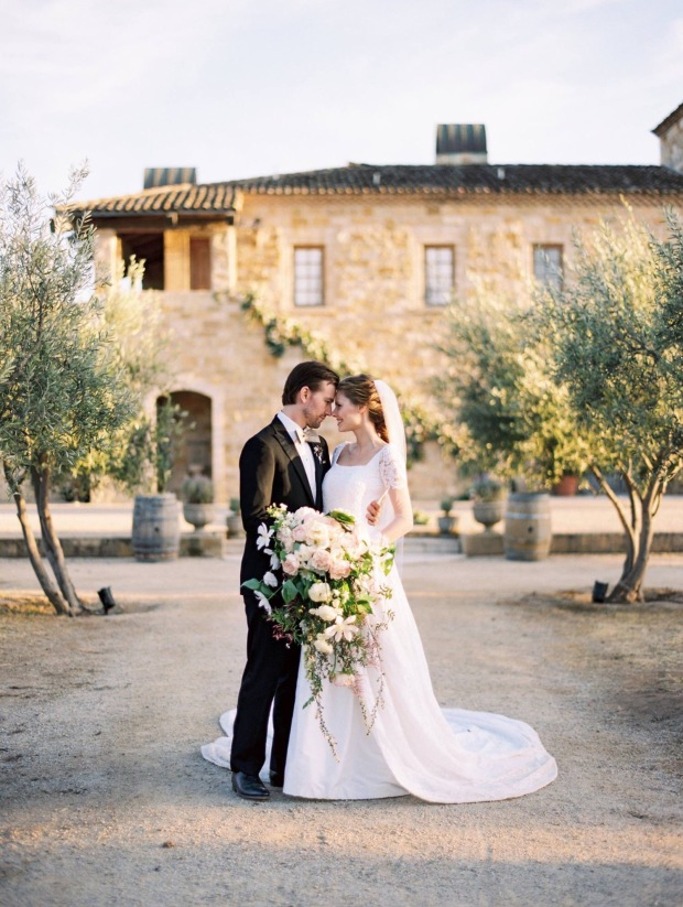 Alyssa Campanella weds Torrance Coombs at Sunstone Villa in Lauren Elaine Bridal
