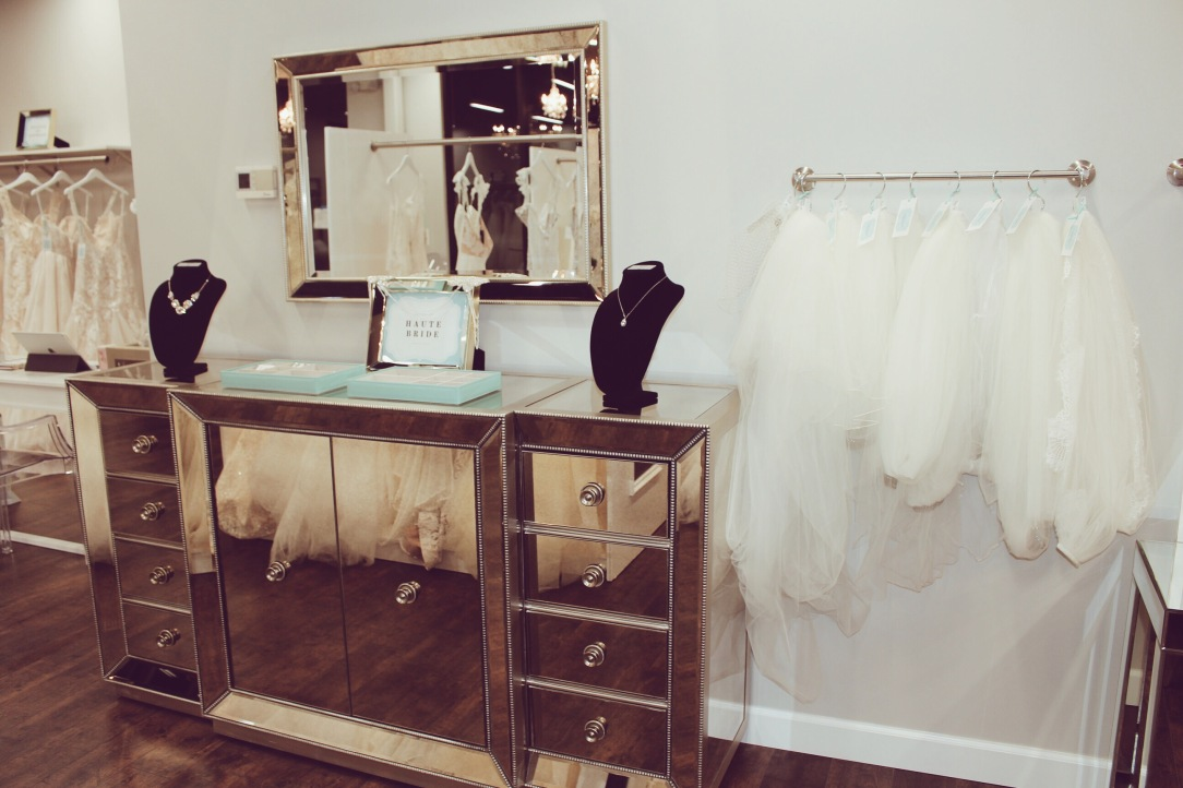 Interior of Genevieve's Bridal Couture in Barrington, Illinois