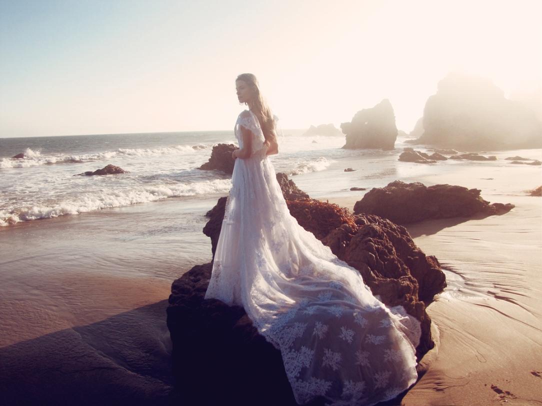 """Astoria"" wedding gown by Lauren Elaine Bridal for Bridal Fashion Week Spring/Summer 2017"