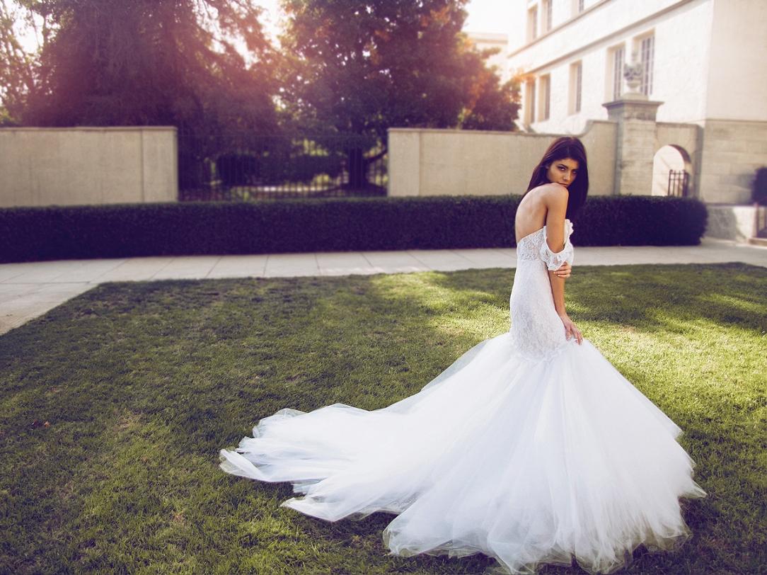 """Calais"" wedding gown by Lauren Elaine Bridal for Bridal Fashion Week Spring/Summer 2017"