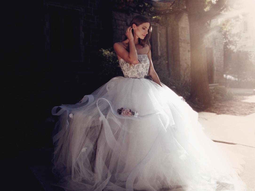 """""""Fleur"""" wedding gown by Lauren Elaine Bridal for Bridal Fashion Week Spring/Summer 2017"""