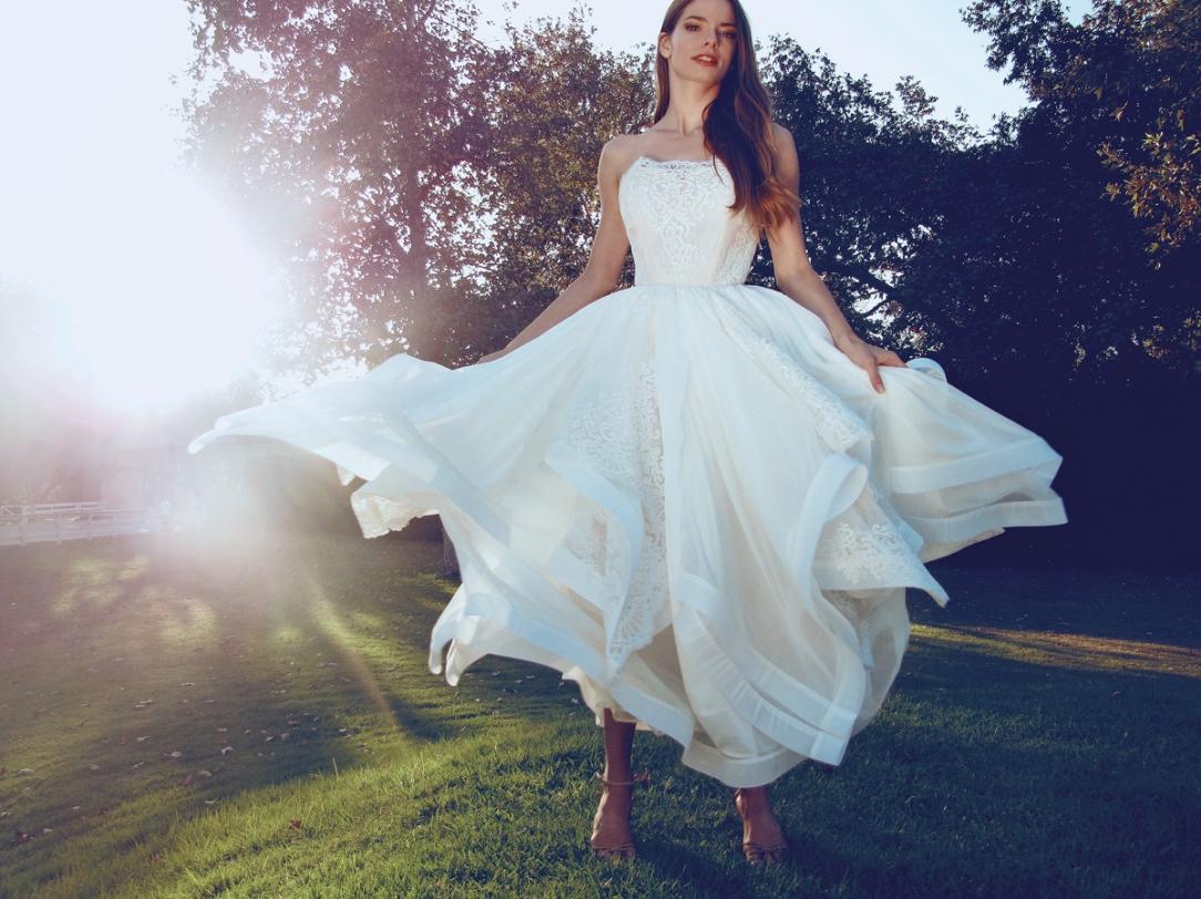 """Haven"" wedding gown by Lauren Elaine Bridal for Bridal Fashion Week Spring/Summer 2017"