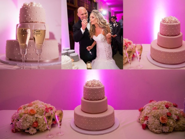 Color pink and purple wedding in Los Angeles, California at Angeles National Golf club