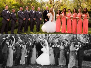 Tal and Ian's wedding featuring a custom Lauren Elaine bridal gown viel