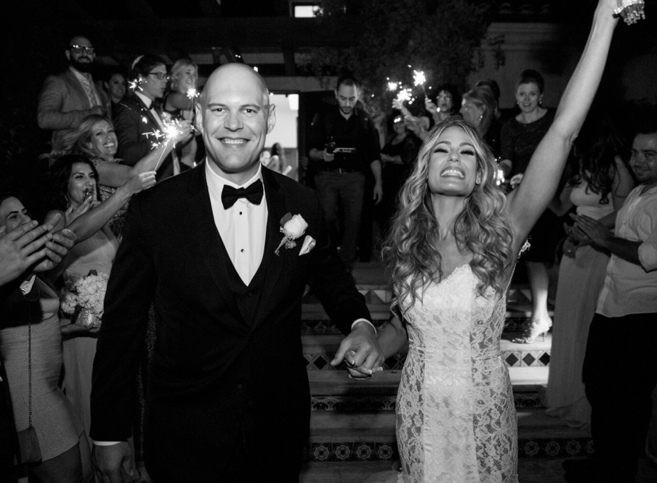 Tal and Ian tie the knot at Angeles National Golf Club in Los Angeles, California.