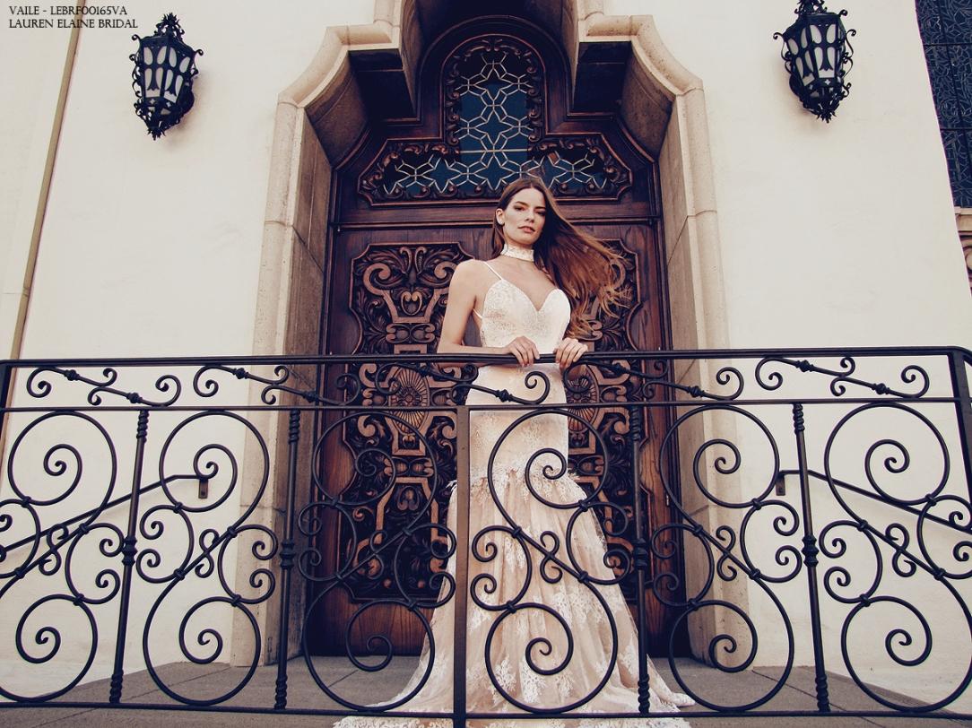 Vaile mermaid wedding gown by Lauren Elaine Bridal