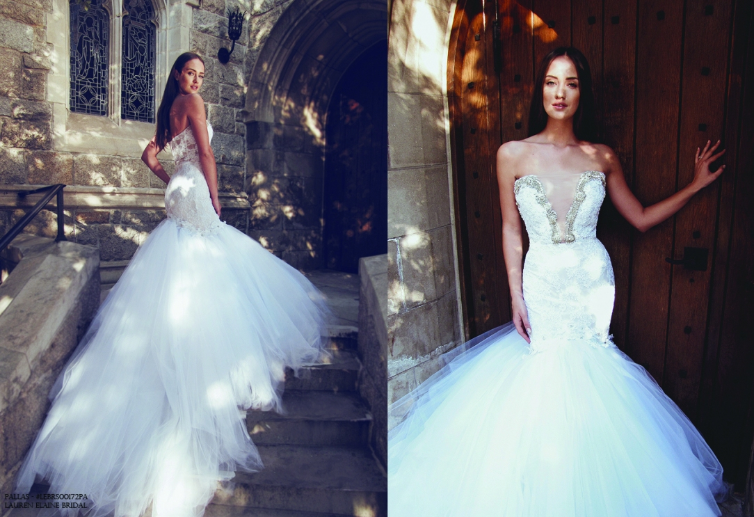 deep v illusion strapless mermaid wedding dress cathedral train wedding gown