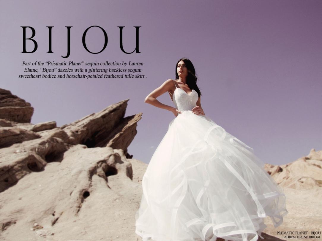 lauren elaine bridal bijou sequin wedding gown bridal dress ball gown
