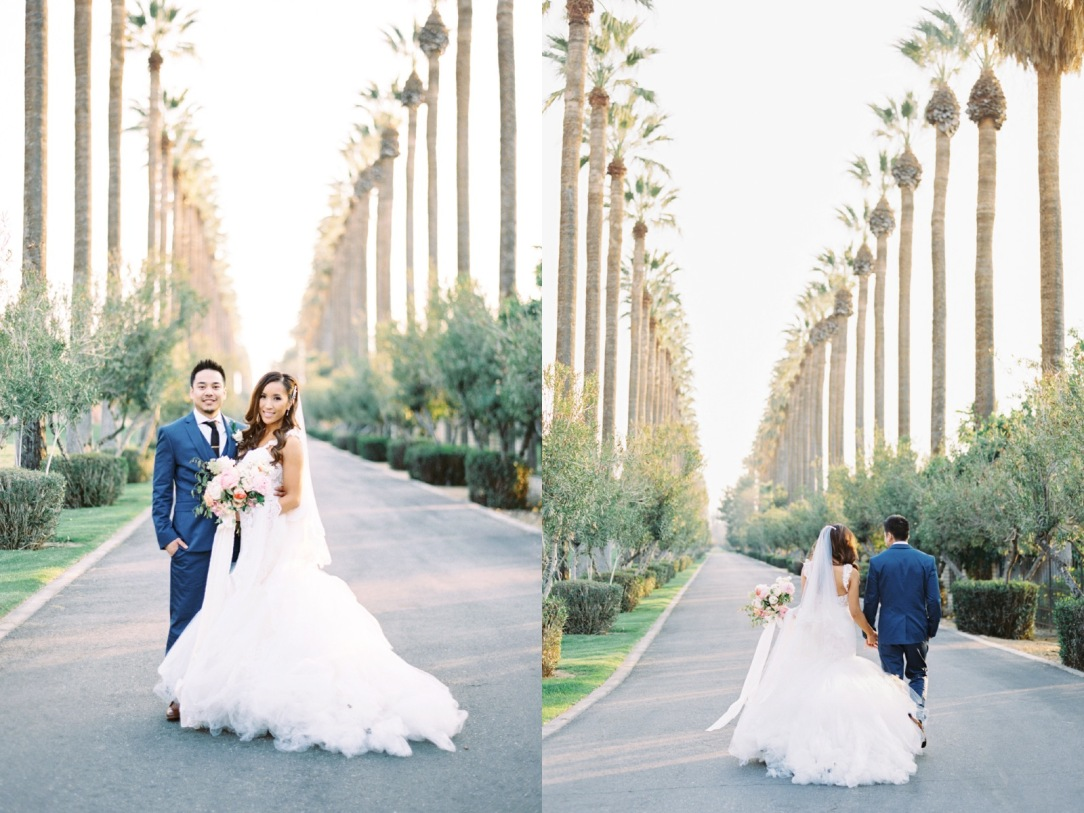 Mary and Sernan at their Bakersfield Country Club wedding in California