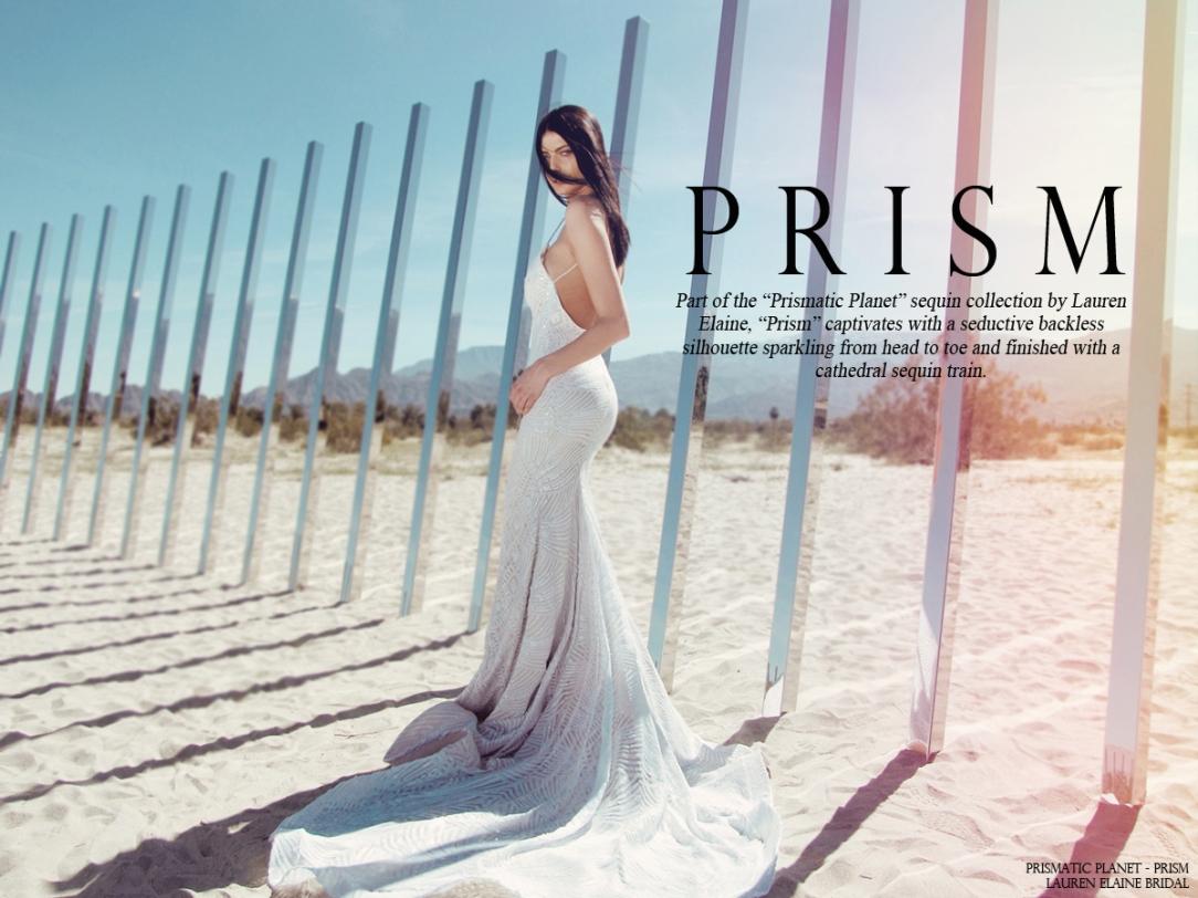 lauren elaine prism mermaid sequin bridal gown