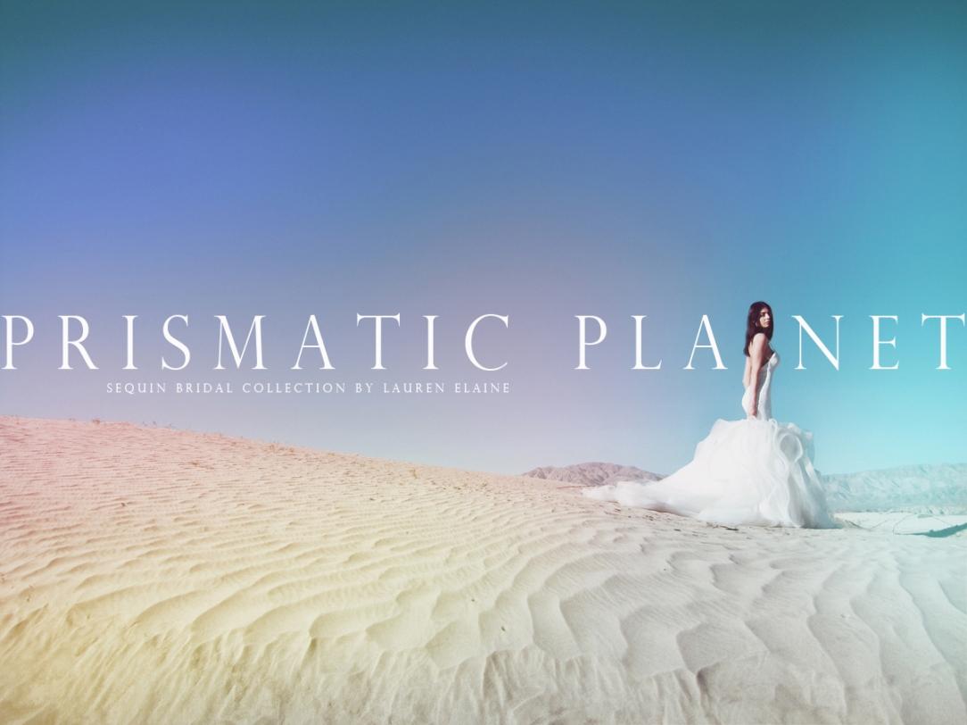 lauren elaine prismatic planet sequin bridal collection full lookbook