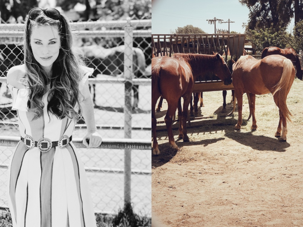 Once Upon a Seam Blogger and Designer Lauren Elaine visits the Los Angeles Equestrian Center