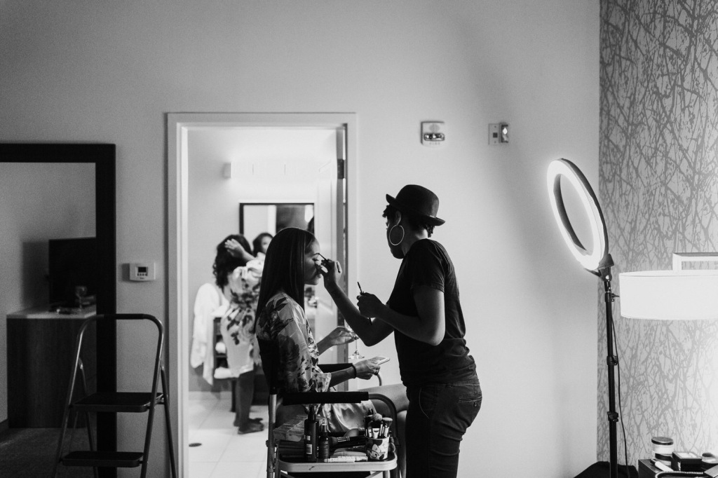 Bride Harmony gets ready for her Lafayette, Louisiana wedding