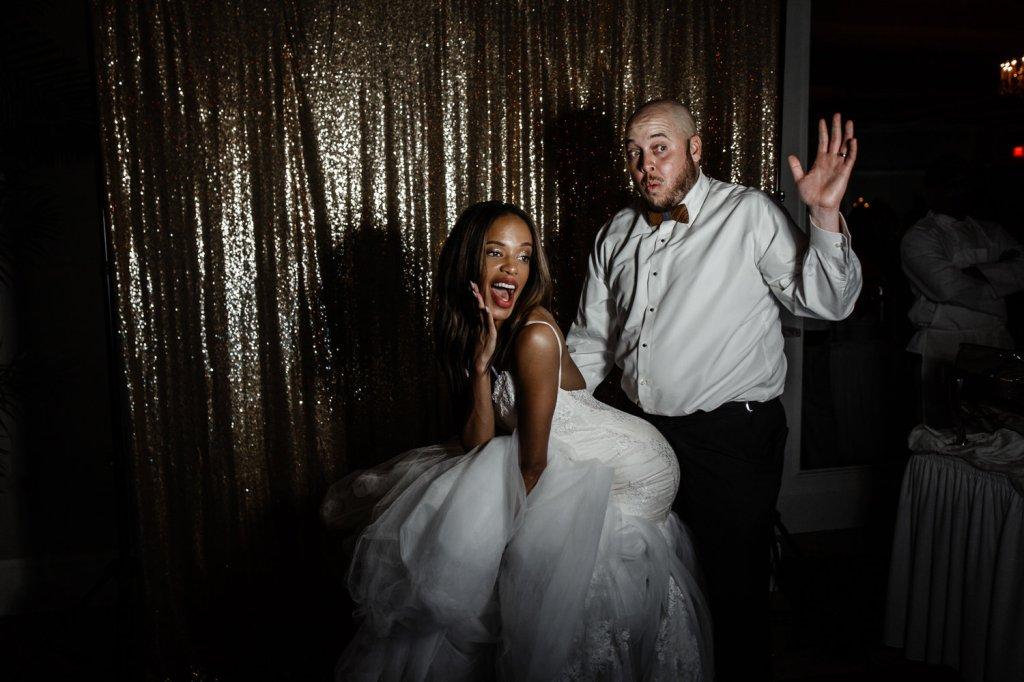 Candids of bride Harmony in her Lauren Elaine arabelle wedding gown dress