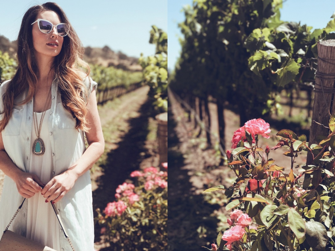 Los-angeles-fashion-designer-lauren-Elaine-visits-Fess-Parker-vineyard