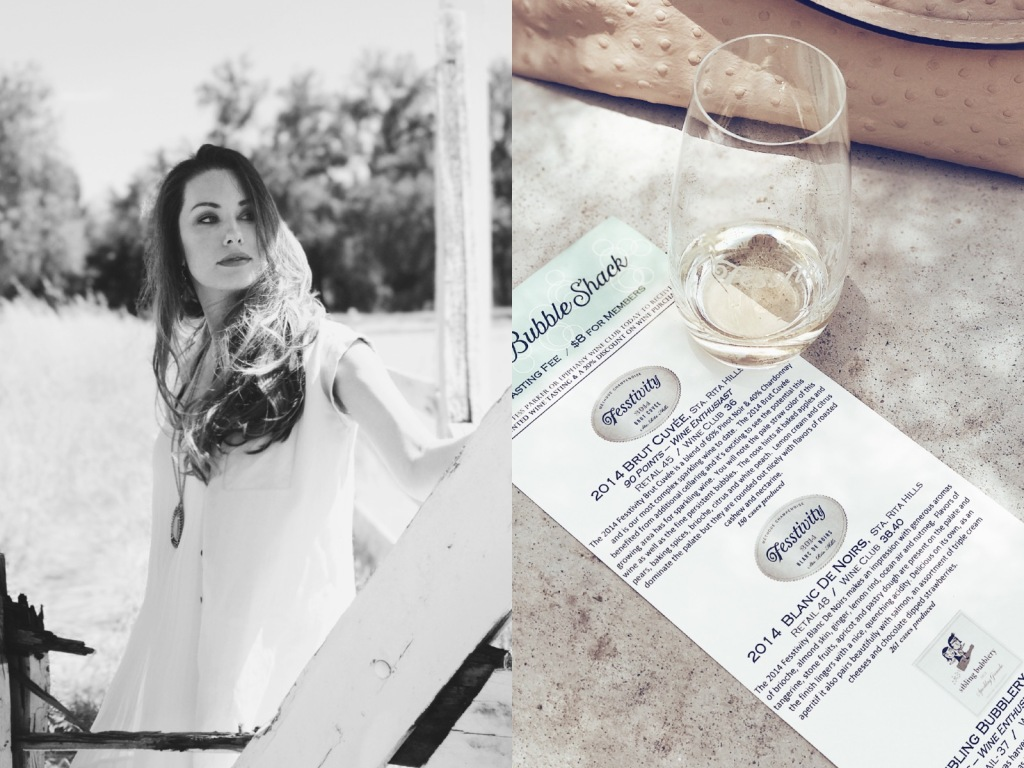 Los Angeles Fashion Designer Lauren Elaine visits the Bubble Shack in Los Olivos