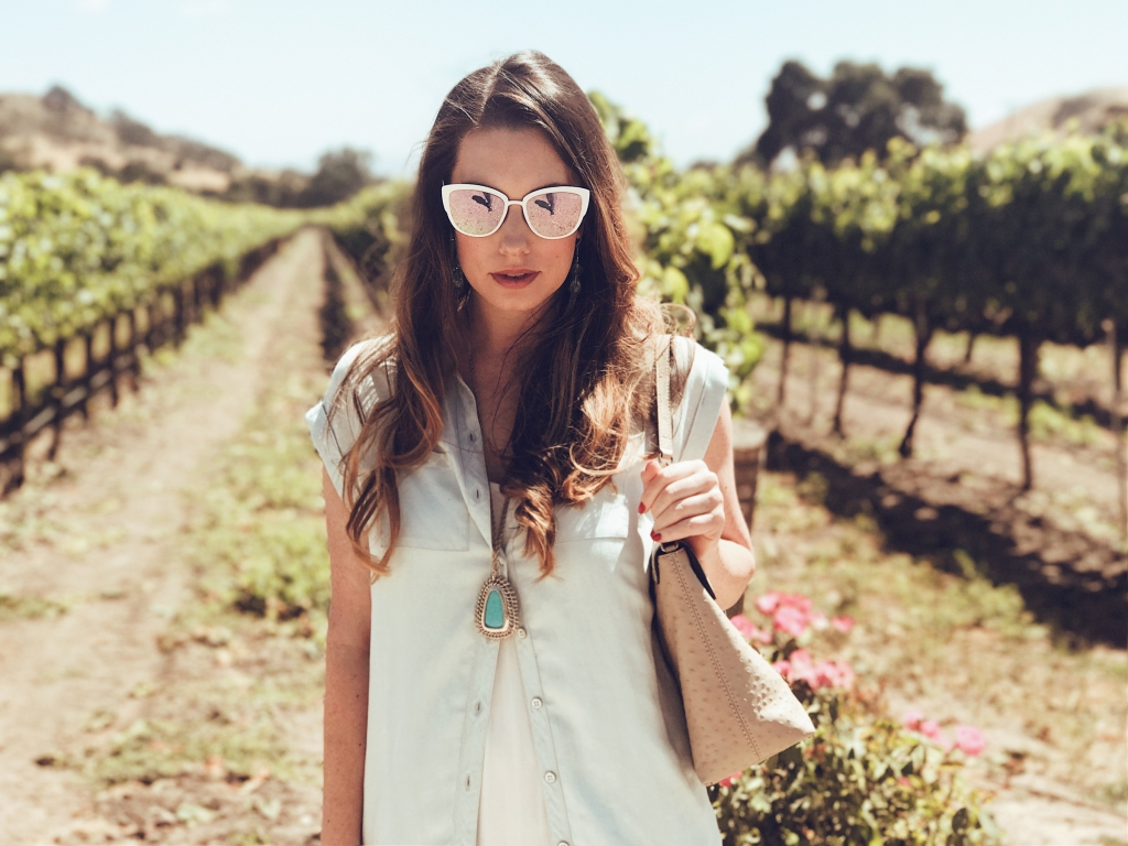 Los Angeles Fashion Designer Lauren Elaine visits Fess Parker winery in Santa Ynez